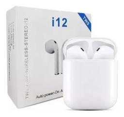 Fone De Ouvido I12 Tws Bluetooth V5.0 Touch E Android