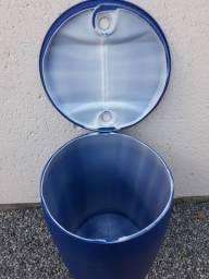 Tambor azul plástico 200 litros