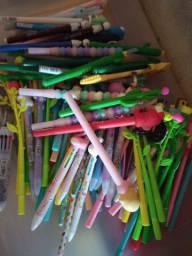 Lote 110 canetas kawaii para revenda