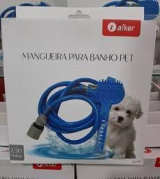 Mangueira Chuveiro Pet Massageador Banho Cães E Gatos