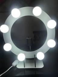 Ring light com oito bocais