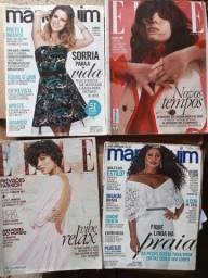 Revistas manequins e ELLE (revistas de moda)