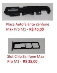Peças Asus ZenFone Max Pro M1 ZB602KL, camera, autofalante, carcaça, slot d chip, tela