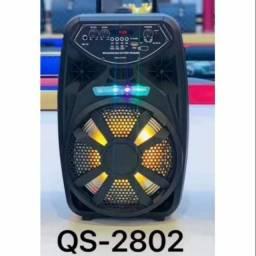 Box Bluetooth Kimiso QS_2802 amplificadora 2000W - Potência e Qualidade!