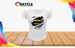 Camiseta personalizada Batman ou  com sua idéia