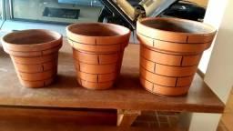 Vasos cerâmica  lindos.