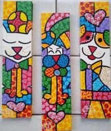 Belo Quadro, Pintura decorativa em acrílica sobre tela 10x40 Artista Carlos Júnior