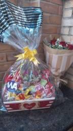 Promoção cesta de chocolate