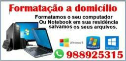 FORMATAÇÃO de COMPUTADORES E NOTEBOOKS A DOMICÍLIO