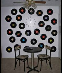 Discos de vinil para decoração.