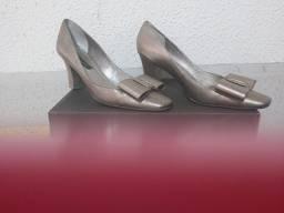 Sapato Social Prata Envelhecida
