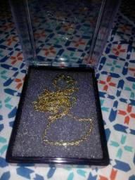 Cordão Rommanel novo e com banho encasdado de 1 grama de ouro 18k