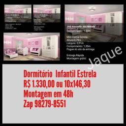 Dormitório Infantil Estrela/ Montagem Grátis.