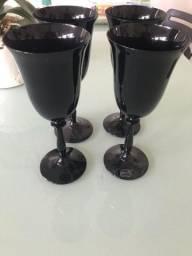 Taças cristal negro/ boêmia