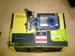 Placa vídeo NVidia Galax GEFORCE GT710 2GB 64bits VGA/DVI/HDMI