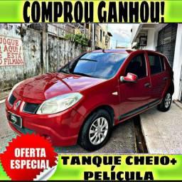 TANQUE CHEIO SO NA EMPORIUM CAR!!! RENAULT SANDERO 1.0 ANO 2011 COM MIL DE ENTRADA