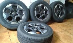 """Rodas de camionete 16"""" 5 furos com pneus torrrrrando !!!"""