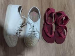 Tênis molequinha + sandália tamanho 28