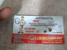 Serviços de antenas