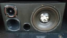 Potencia e caixa de som