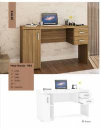 Mesa escrivaninha 2 gavetas *