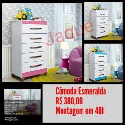 Cômoda Esmeralda/ Montagem em 48h.