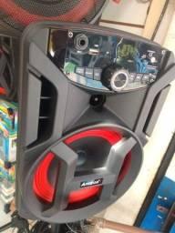 Caixa de som bluetooth amplificada amvox portátil 130wrms nova