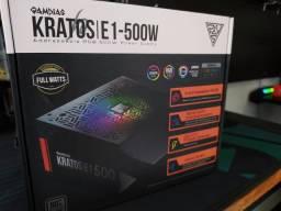 Fonte Gamer Gamdias Kratos E1 500W RGB 80 Plus White