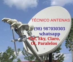 Instalação e manutenção Antenas
