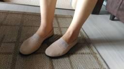 Sapato moleca de tecido. Tamanho 35