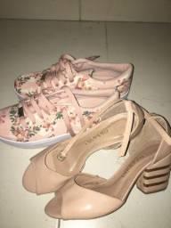 Sapato com sandália