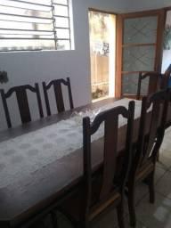 Mesa de sucupira usada com 6 cadeiras