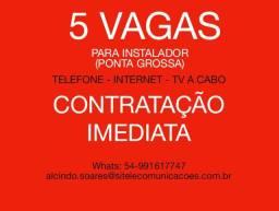 Oportunidades de emprego em Ponta Grossa-PR