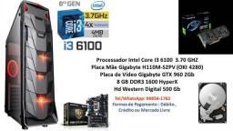 PC Gamer Intel Core I3 6100 8Gb GTX 960 2Gb + Brindes !!!
