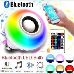 Lâmpada Bluetooth - Toca música e troca de cor