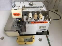 Maquina de Costura Overloque Siruba com embutidor de corrente