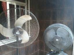Três ventiladores 60, 40 e 30cm leia descrição