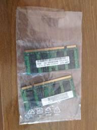 Memórias DDR2 1 GB Samsung Notebook