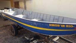 Barco+carretinha +motor 25hp