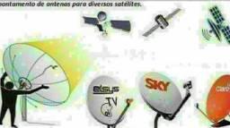 Apontamento de satélite em toda baixada