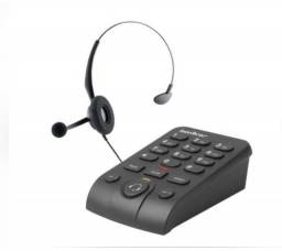 Headset p/telefone RJ9 preto usado