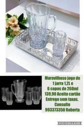 Maravilhoso jogo jarra com 6 copos