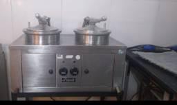 Fritadeira de pressão frango frito