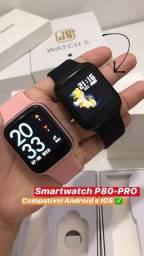 Smartwatch P80 Pro Faz e Recebe Ligaçoes