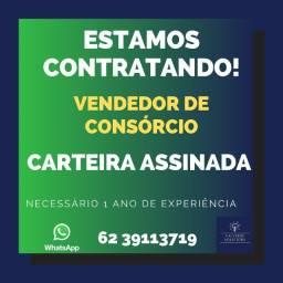 Contrata-se Consultor de Vendas para Vendas de Consórcio