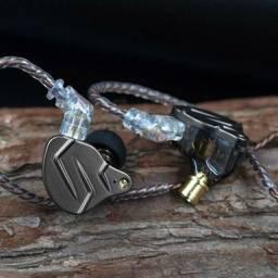 Fone de Ouvido In Ear Kz ZSN Pro Retorno de Palco Profissional