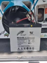 Bateria de gel (12v 58ah) - IDEAL PARA SOM AUTOMOTIVO