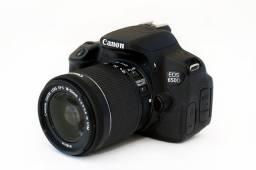 Câmera Canon 650D T4i com Lente 18-55mm STM em Excelente Estado!