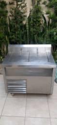 Freezer horizontal industrial impecavel 210 litros 220V sem ferrugens oportunidade