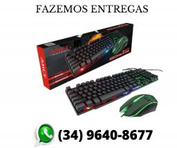 Kit Gamer Teclado Mouse Led Km-680 Keyboard Multimidia Top (Fazemos Entrega)